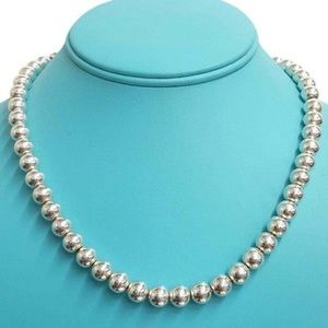 Tiffany and Co. silver bead necklace